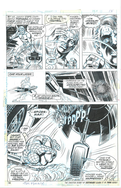 Marvel Team-Up #10 Pg 18 Original Art Jim Mooney Signed One Of A Kind!