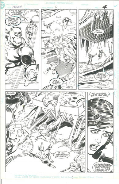 Green Lantern Emerald Dawn #6 Pg 4 Original Art Mark Bright 1990