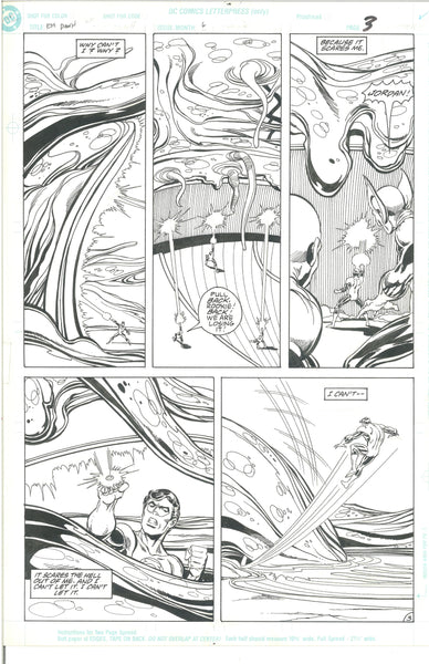 Green Lantern Emerald Dawn #6 Pg 3 Original Art Mark Bright 1990