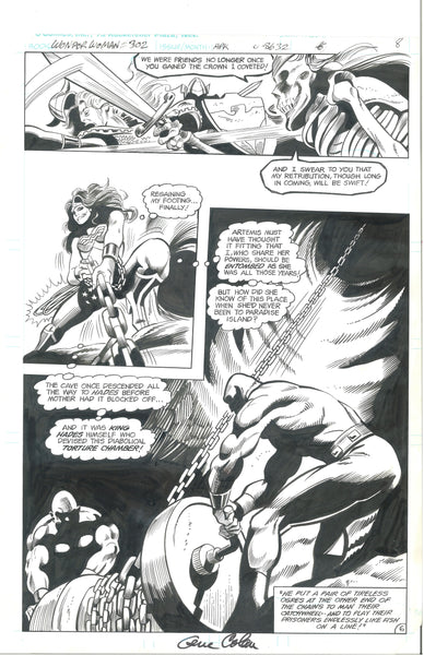 Wonder Woman #302 Pg 6 Original Artwork Signed Gene Colan Excellent!