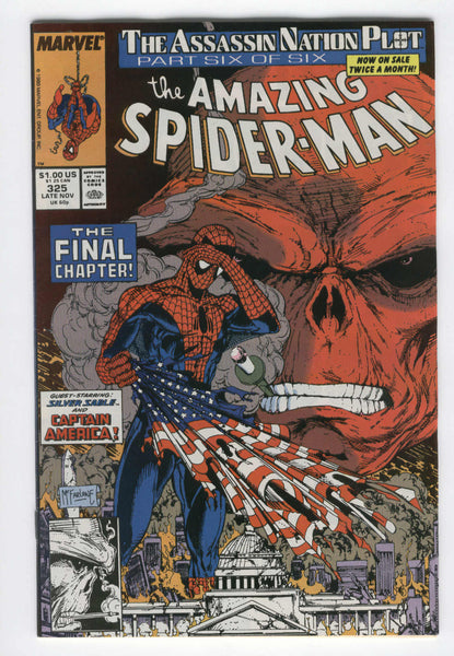 Amazing Spider-Man #325 The Final Chapter Red Skull McFarlane Art VF