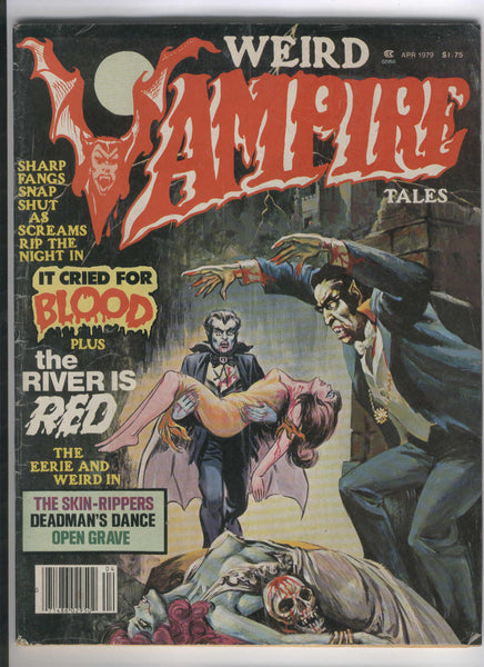 Weird Vampire Tales April 1979 Vol. 3 #1 It Cried For Blood GD HTF Horror
