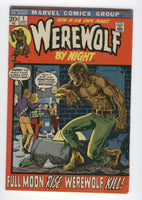 Werewolf By Night #1 Awesome Ploog Art Bronze Age Horror Key VG