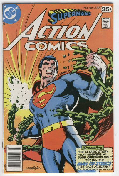 Action Comics #485 Neal Adams Cover Bronze Age FVF