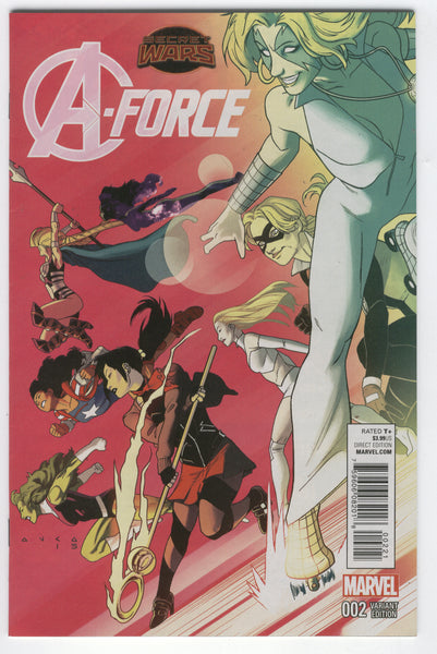 A-Force #2 1:25 Anka Variant Secret Wars NM-