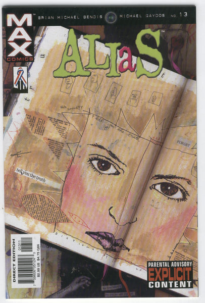 Alias #13 Jessica Jones Tell You The Truth... Mature Readers VFNM