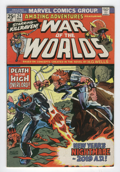 Amazing Adventures #24 War Of The Worlds New Years Nightmare Killraven Bronze Age Classic FN
