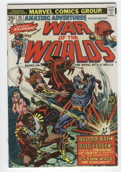 Amazing Adventures #26 Killraven War Of The Worlds Blood-Bath at Battle Creek FVF