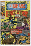 Amazing Adventures #2 Inhumans And Black Widow! Bronze Age Key FVF
