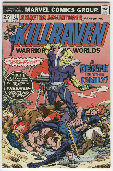 Amazing Adventures #34 Killraven Warrior of the Worlds VGFN