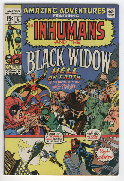 Amazing Adventures #6 The Inhumans And Black Widow Neal Adams Bronze Age Key VF