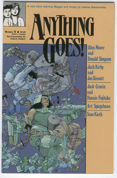 Anything Goes #2 Alan Moore, Don Simpson, Jack Kirby, Joe Sinnot, Jaime Hernandez