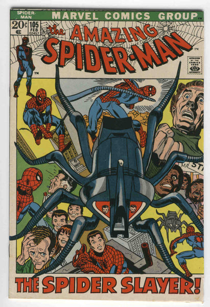 Amazing Spider-Man #105 The Spider-Slayer Kane Art Bronze Age Key FN
