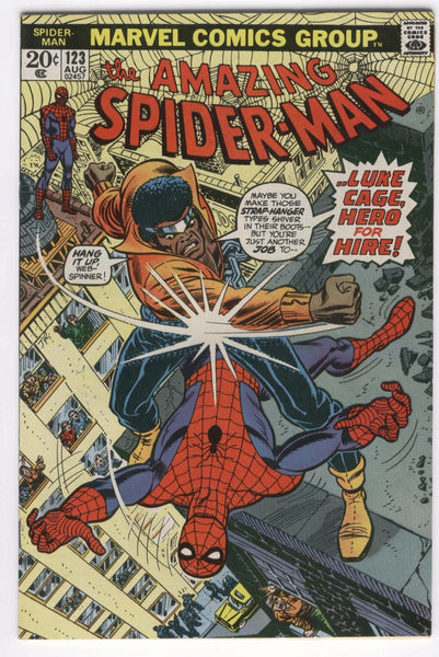 Amazing Spider-Man #123 Luke Cage Power Man Bronze Age Key FVF !