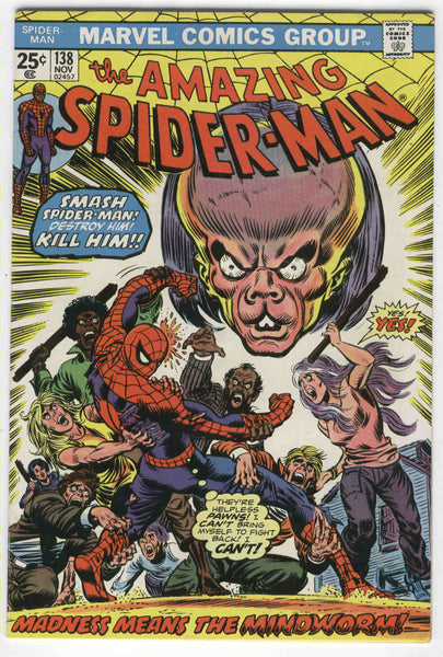 Amazing Spider-Man #138 Madness Means The Mindworm Andru Art Bronze Age FVF