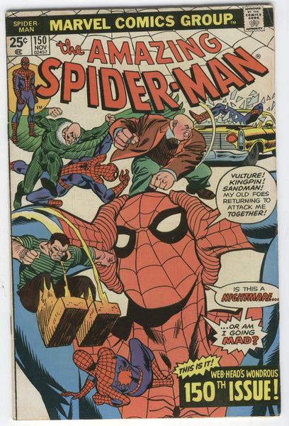 Amazing Spider-Man #150 Am I Going Mad? Bronze Age Key VG