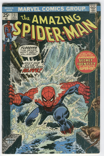 Amazing Spider-Man #151 Only One Leaves Here Alive! Bronze Age Key FN