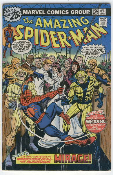 Amazing Spider-Man #156 The Mirage! Bronze Age Key VGFN