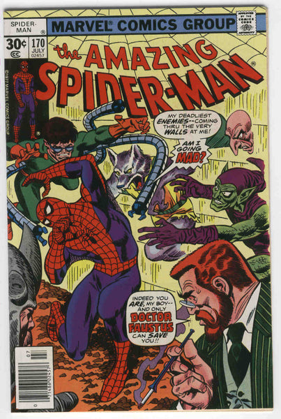 Amazing Spider-Man #170 Madness Is All In The Mind Andru Bronze Age Classic FVF
