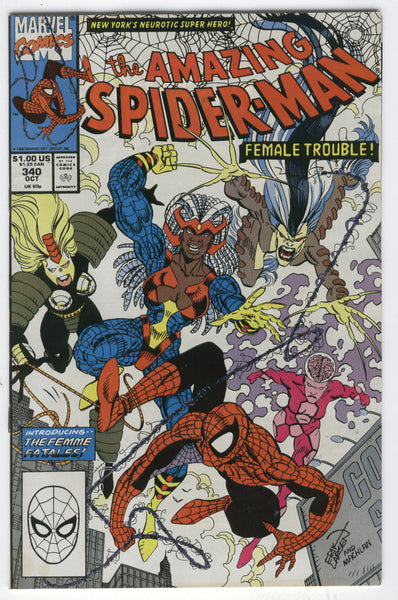 Amazing Spider-Man #340 The Femme Fatales VF