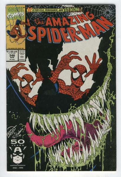 Amazing Spider-Man #346 V Is For Venom Modern Key FVF