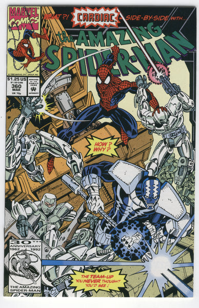 Amazing Spider-Man #360 First Cameo Appearance of Carnage VF