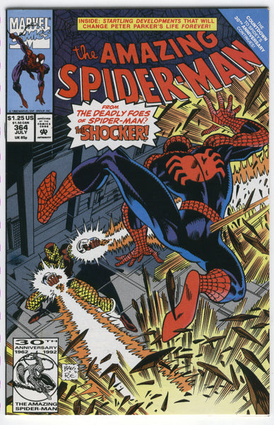 Amazing Spider-Man #364 The Shocker Strikes Bagley Art VFNM