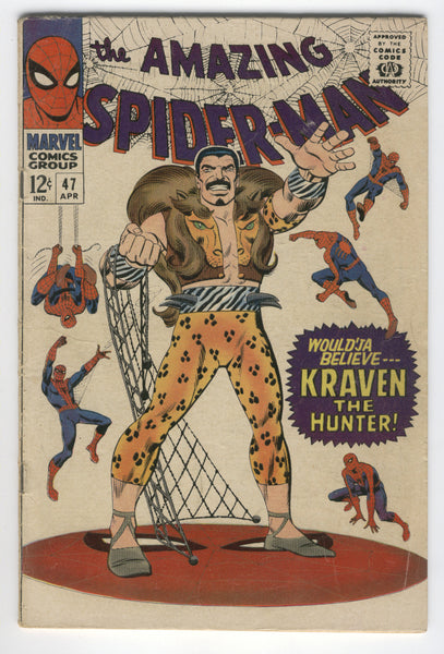 Amazing Spider-Man #47 Kraven The Hunter Green Goblin Early Romita Art Silver Age Classic VG