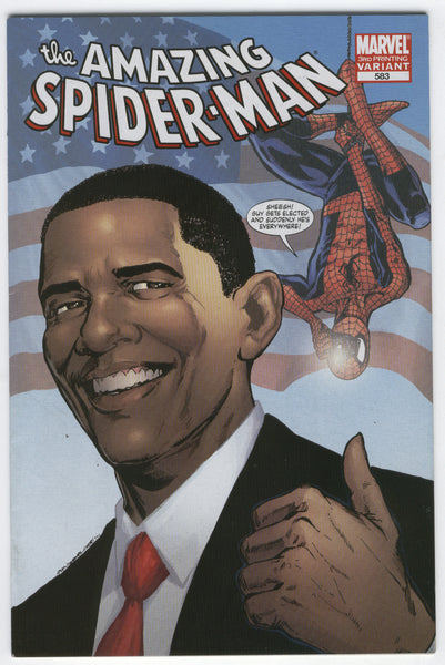 Amazing Spider-Man #583 Third Print Variant Obama Cover VFNM