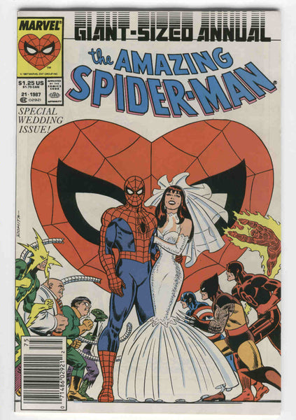 Amazing Spider-Man Annual #21 Wedding Issue Spidey Cover HTF  News Stand Variant VF