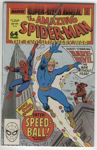 Amazing Spider-Man Annual #22 First Appearance of Speed-Ball VF