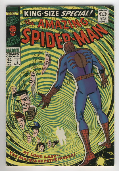 Amazing Spider-Man Annual #5 The Secret Of Peter's Parents Silver Age Key FN