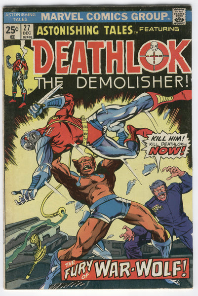 Astonishing Tales #27 Deathlok The Demolisher Buckler Bronze Age Classic FN