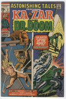 Astonishing Tales #2 Ka-Zar & Doctor Doom Kirby Wood Art Early Bronze Age classic Fine