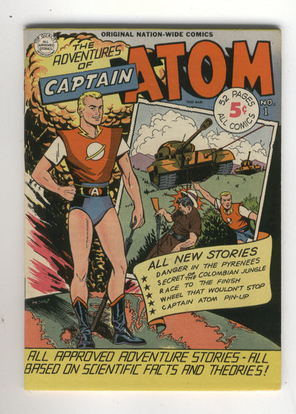 Adventures Of Captain Atom #1 Nation-Wide Comics 1950 HTF Digest Size Sweet VFNM Golden Age