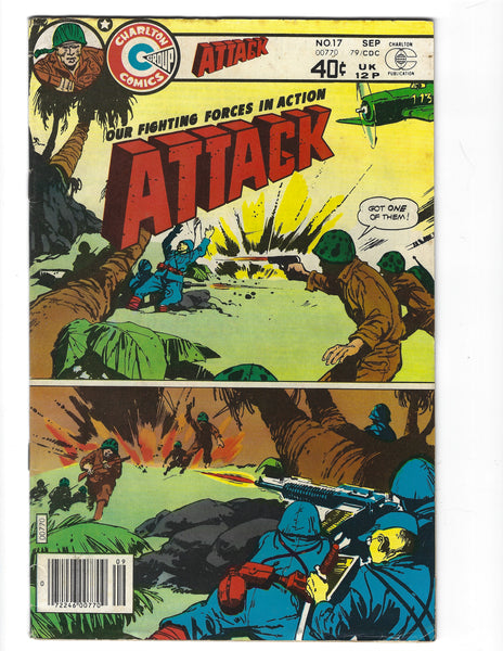 Attack #17 Charlton Bronze Age War Series FN