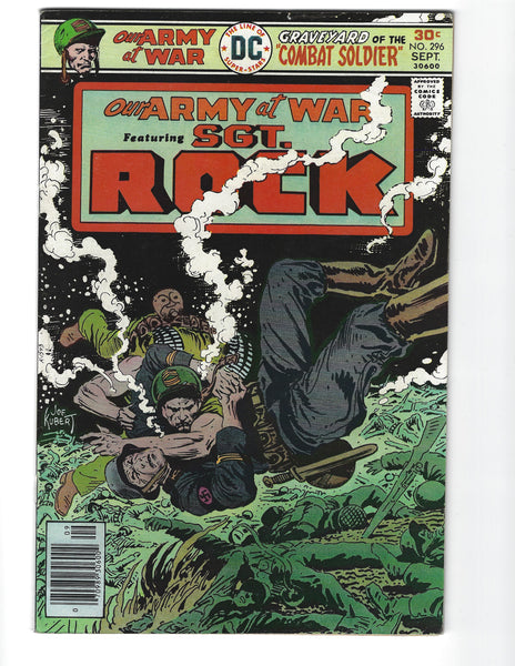 Our Army At War #296 Sgt. Rock! Mark Jewelers Variant! FN