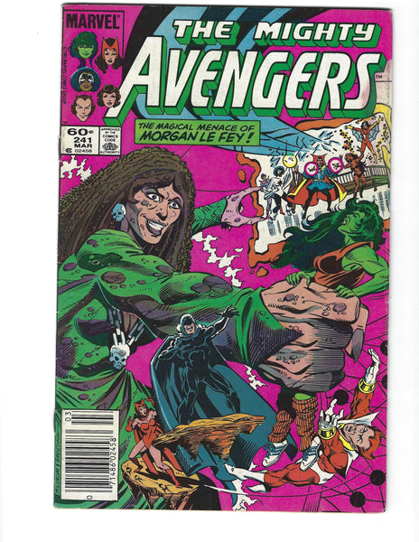 Avengers #241 The Menace Of Morgan LeFay! News Stand Variant VG