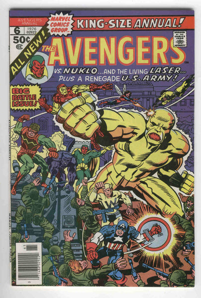 Avengers Annual #6 Nuklo and The Living Laser Bronze Age Key VF-