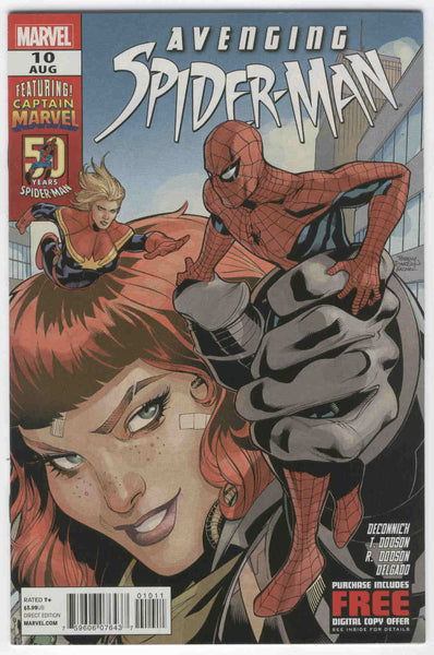 Avenging Spider-Man #10 Carol Danvers as Captain Marvel VFNM