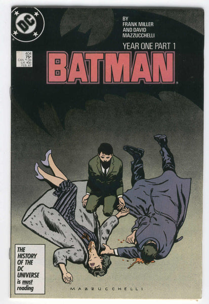 Batman #404 7.0 Year One Part 1 Miller & Mazzucchelli FVF