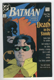 Batman #427 Death In The Family Book Two VF Mignola Cover
