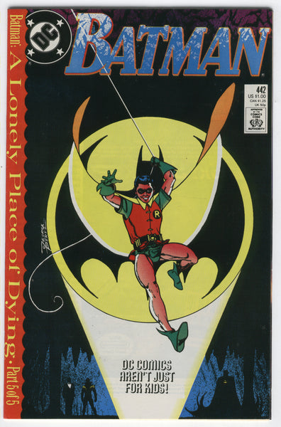 Batman #442 A Lonely Place Of Dying! Tim Drake New Robin VF