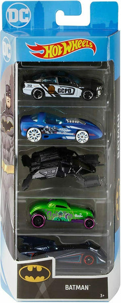 Hot Wheels Batman Die-Cast 5 Pack 2020 Sealed New!