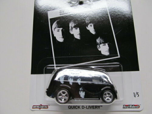 Hot Wheels Premium Beatles Quick D-Livery Die-Cast Sealed On Card #1/5