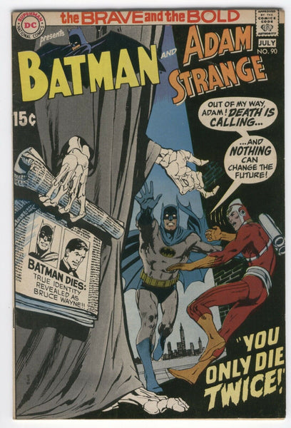 Brave And The Bold #90 Batman And Adam Strange Neal Adams Art! Bronze Age VGFN