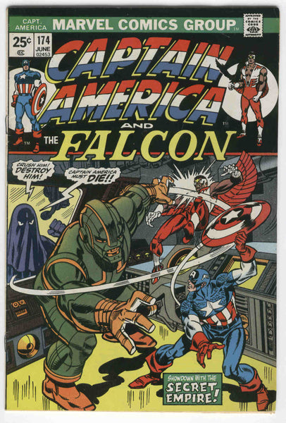 Captain America #174 The Secret Empire X-Men Cross-Over Bronze Age Key FVF