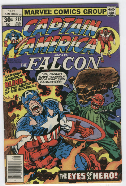 Captain America #212 At The Mercy Of The Red Skull Kirby Bronze Age Classic VG