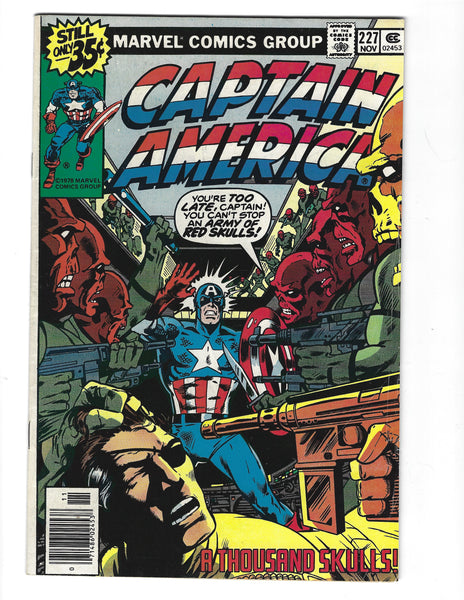 Captain America #227 The Red Skull! Bronze Age FN