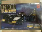 1989 Batman Batmobile AMT Plastic Model Kit with resin Batman figure, 1-25 scale, new, sealed